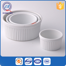 Good quality cooking embossed design ceramic ramekin