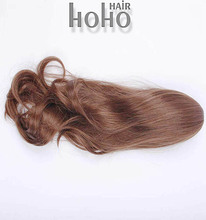 wholesale price high quality 26 inch clip in kinky straight ponytail
