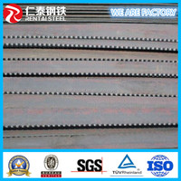 Grating steel industry application serrated shape flat bar