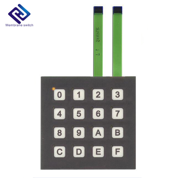 4x4 Matrix Push Buttons Membrane Tactile Keypad With Flexible Circuit