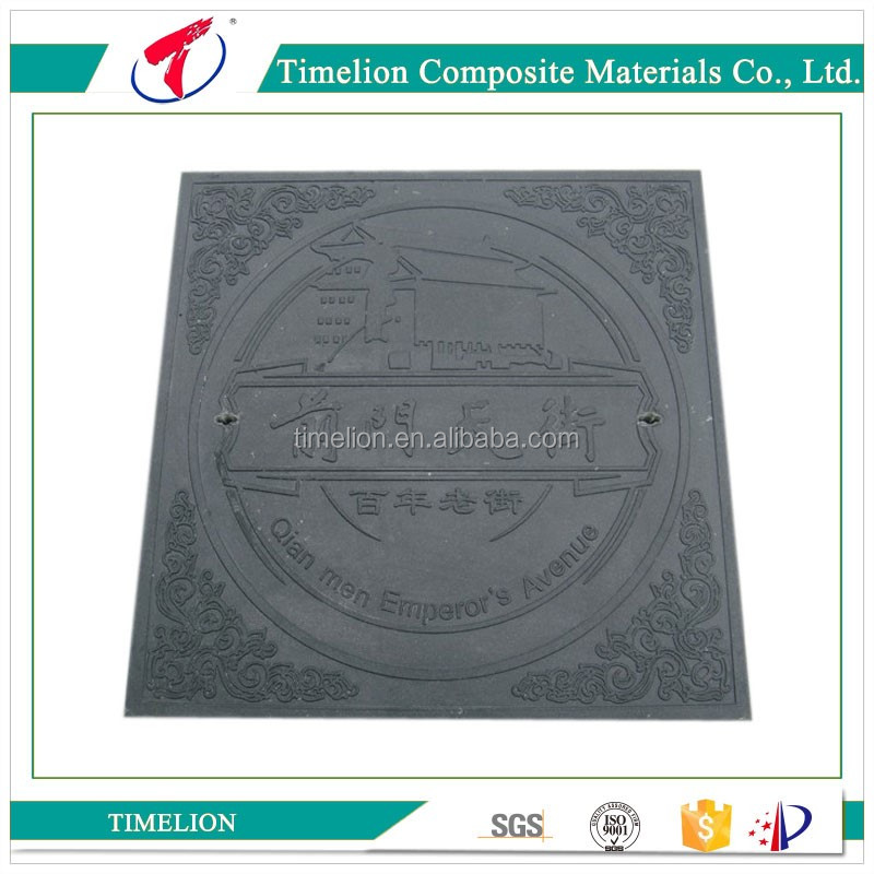 EN124 B125 SMC Sanitary Sewer Manhole Cover and Frame