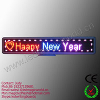 Free shipping tricolor car real window led display crossfit timer moving light sign board