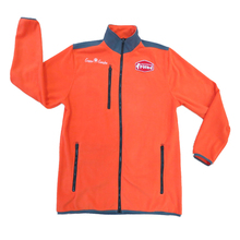 customize orange mens polar fleece jacket uniform workwear