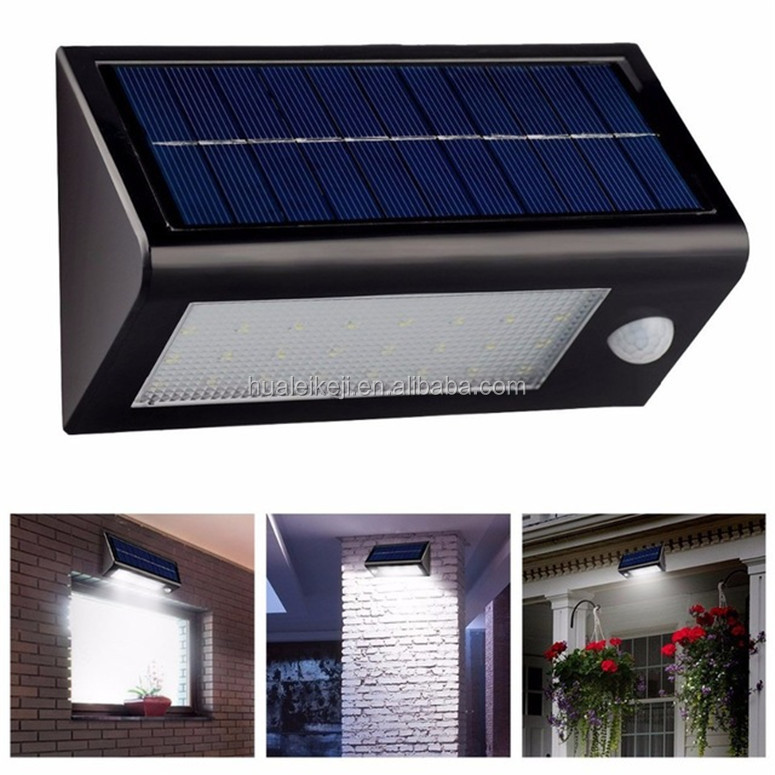 LEDs Solar Light Outdoor with Motion Sensor Solar Light 500 Lumens IP65 Waterproof 3 Working Modes