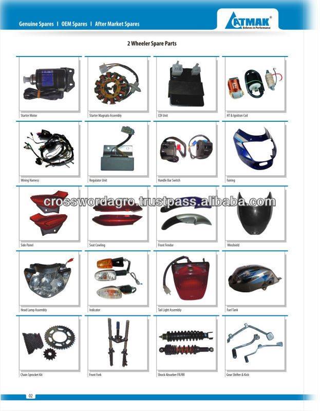 BAJAJ MOTORCYCLE SPARE PARTS IN UGANDA