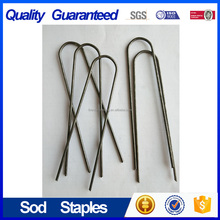 12''SOD Staples Garden Stakes Weed Barrier Pins/Landscape Nails/Sod Nail