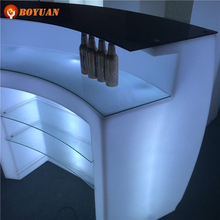PE rechargeable led cube chairs bar counter led light