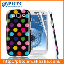 Wholesale Polka Dots TPU Phone Case For Samsung Galaxy S3 I9300, Custom Sublimation Back TPU Mobile Phone Case , TPU Mobile Case