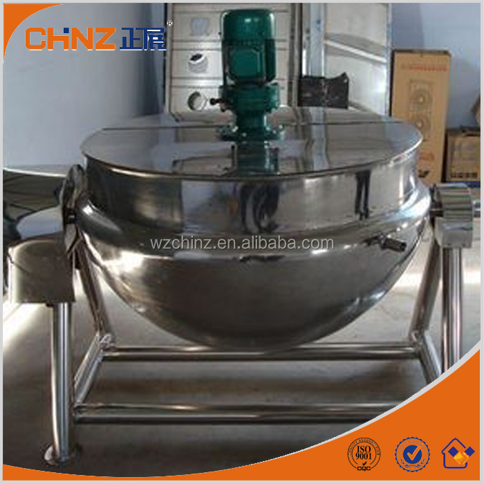 double jacketed kettle with mixer