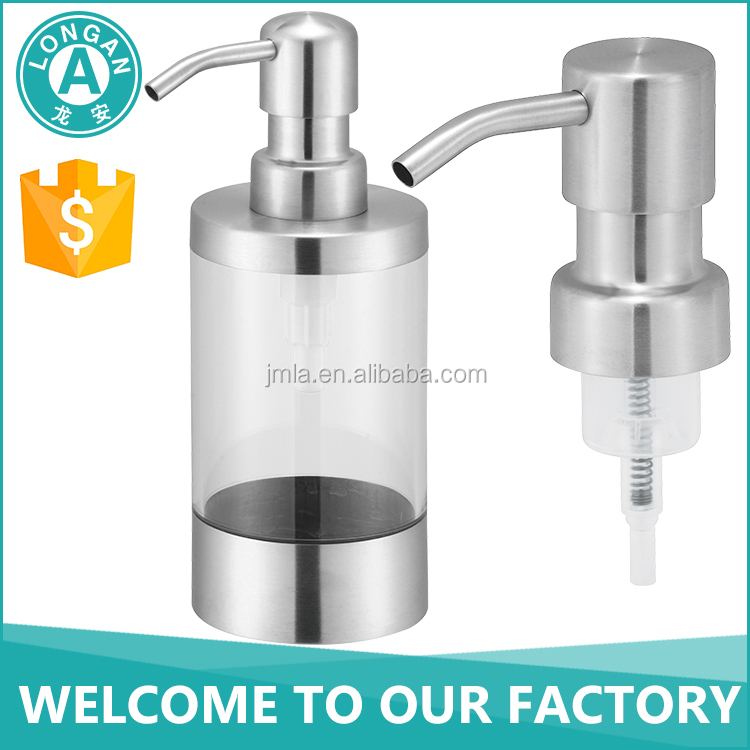 hair conditioner accessories 28mm plastic foam bottle pump , stainless steel foam soap pump