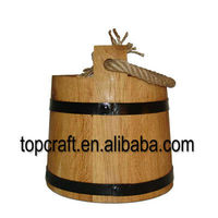Handmade 5 Litres Oak Water Bucket