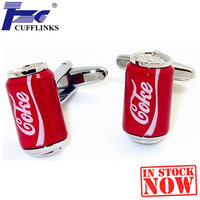 Fashion Red Coke Can Cufflink Cuff