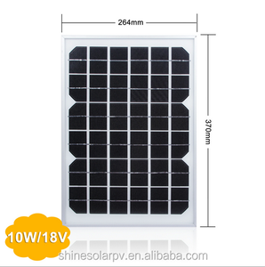 Best Solar Panel Price 10W Monocrystalline Small Solar Panel with CE UL TUV Certification