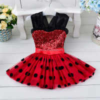 2016 new model lovely pretty baby flower girl dress dresses girls new arrival with sequins