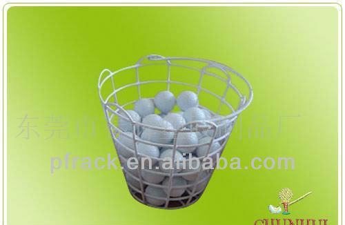Golf ball wire basket