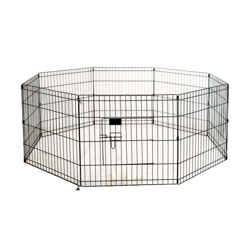 """42""""-Black Tall Dog Playpen /Crate Fence /Pet Kennel Play Pen/ Exercise Cage -6 Panel"""