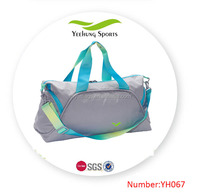 Grey Sport Gym Bag with Shoes compartment
