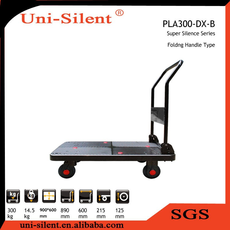 300kg Heavy Duty Foldble Handle Plastc Platform Trolley PLA300-DX
