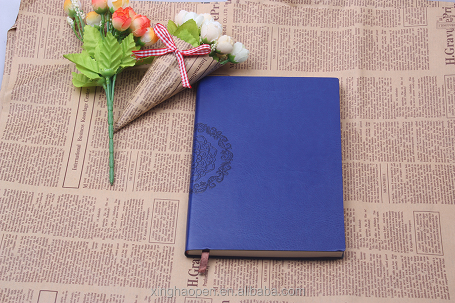 Fashion design wholesale soft cover leather Notebook with Embossed Logo office note book