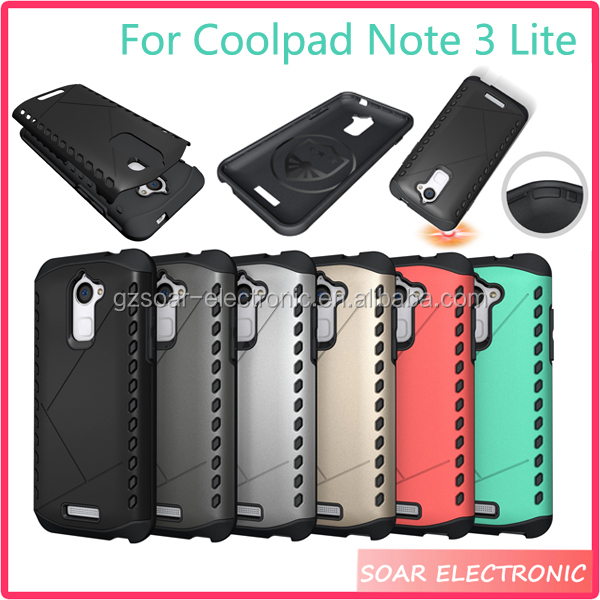 [Soar]New Arrival Hard Sheild Combo Armour Back Cover Case For Coolpad Note 3 Lite