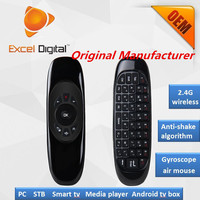 New Smart 2.4Ghz Wireless air mouse air mouse C120 with qwerty keyboard