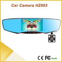 New coming 4.3 inch tft lcd screen + rearview mirror + dual cameras car dvr vehicle camera
