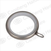 CS-K006 simple curtain accessories metal plastic electroplated rings