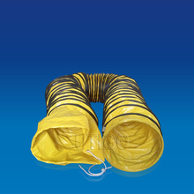 High tencity polyester weave coated PVC portable flexible ductwork