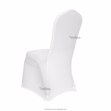 Factory price hot selling 180gsm fabric White Spandex Wedding Reception Banquet Style chair covers for plastic chairs