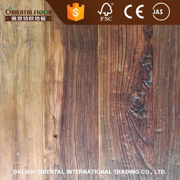 2017 home decoration material white oil reclaimed tile and water resistant wood flooring