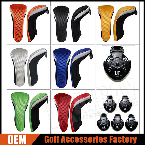 Hot Sale Mesh&Neoprene Golf Hybrid Head covers /UT Golf Covers