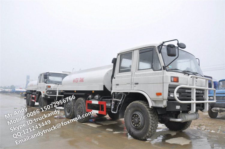 Dongfeng 6x6 off-road water truck,6x6 all-wheel drive water truck