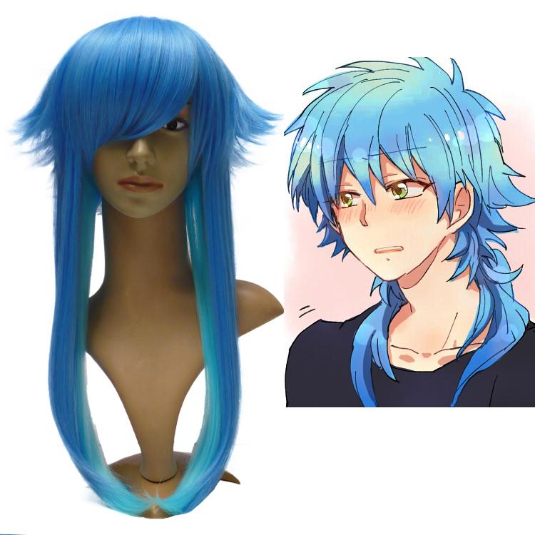 Buy Seragaki Aoba Long Straight Blue Synthetic Kanekalon Hair
