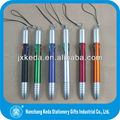 2014 touch screen plastic ball point pen with 4 in 1 -4 ink color+string+touch