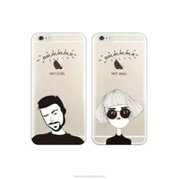 Personalized Girl and Boy Design PC TPU Soft Mobile Phone Case For iPhone 7