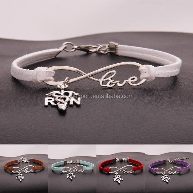 14 Colors Fashion Jewelry InfinityTable Bracelet Women Men Korean Velvet Wristband Leather Rope Bangle