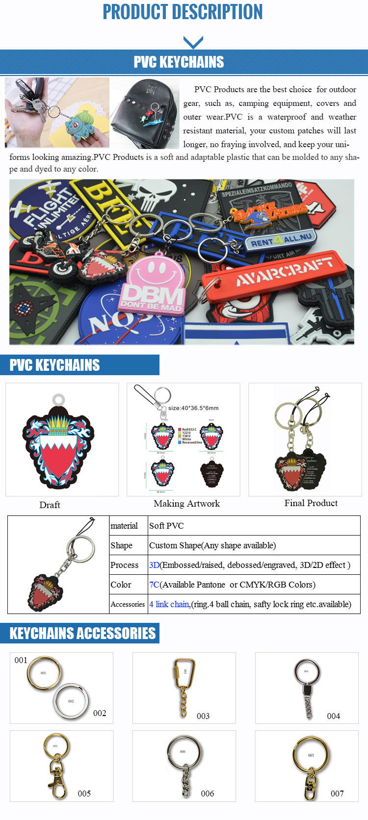 Manufacturing Flexible Customized 3D Soft PVC Keychain Promote Your Business