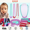 fashion jewelry Cartoon pendant kids chunky colorful bead necklace design