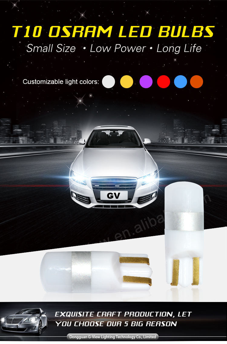 2017 New design 501 auto led bulb T10 3030 led car light 10-30v car led w5w with Constant-IC built-in
