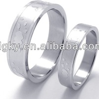 Stainless Steel Wedding Sets Rings Couple