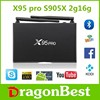 movies download free mobile games smart firmware X95 PRO S905X 2G 16G Quad core android 6.0 tv box