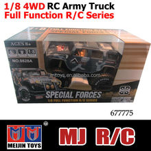 1/8 4WD Electric power rc truck army style rc monster truck sales promotion