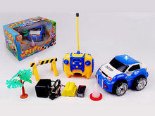 Kids 4 Channel 1/18 RC Stunt Police Car with 3 Lights