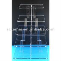5 tier acrylic square cupcake stand