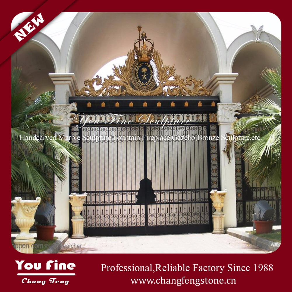 Decorative Outdoor Iron Fancy Gates for Homes