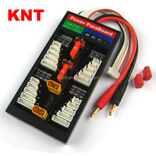 KNT Deans/XT60 Safe Parallel Charging Board 40A ParaBoard with 4 Packs JST-XH (2-6S) for RC Lipo Charger