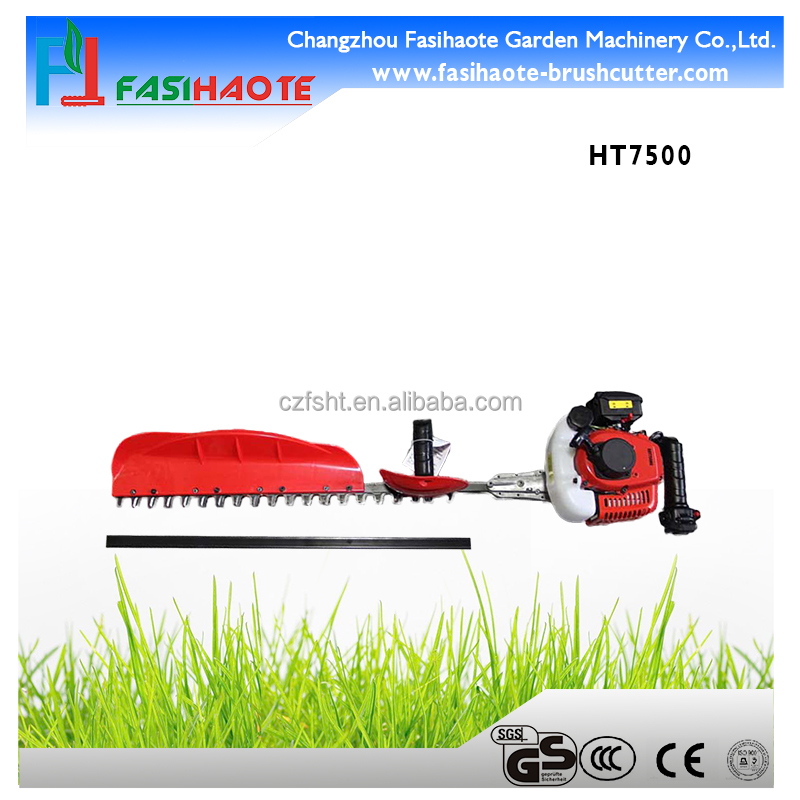 Long pole gasoline hedge cutter