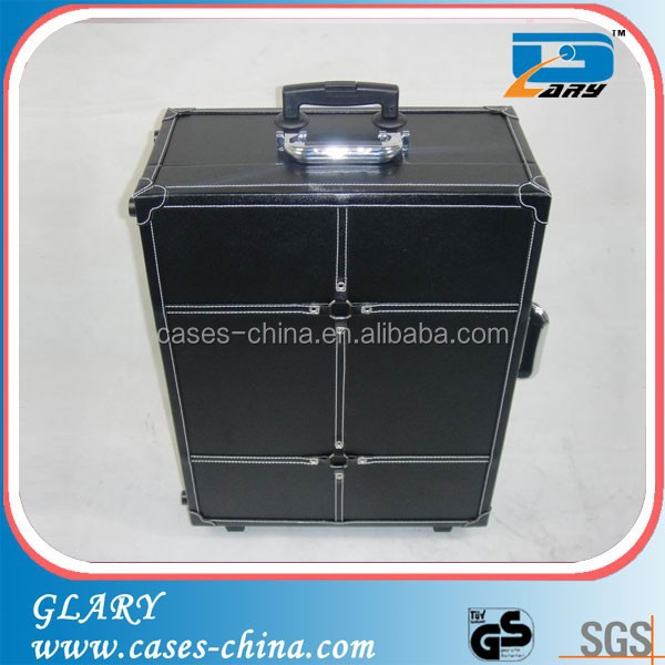 aluminium lighted makeup train case,makeup case with lights stand,light up make up station