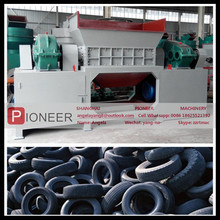new type tire shredder machine double shaft shredder