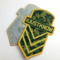 custom garment patch label iron on backing woven patch for clothing